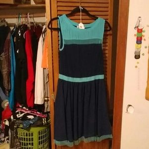 Flawless sheer blue dress